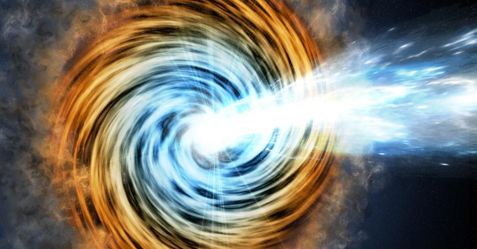 31.jan.2017 - NASA fotografa galáxias com buracos negros mais distantes da história