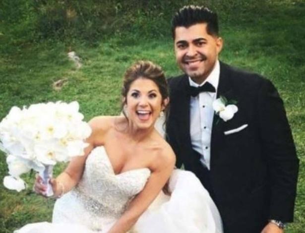 Jessica Gomes e Aaron Bairos nasceram no mesmo dia e no mesmo hospital e se casaram 27 anos depois
