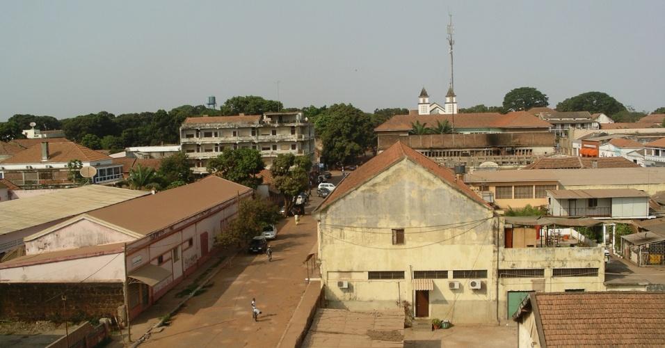 Bissau, a cidade capital de Guiné-Bissau