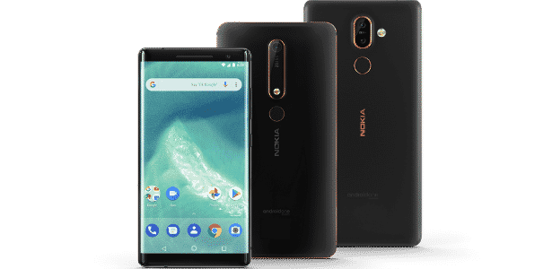 Nokia 6, Nokia 7 Plus, Nokia 8 Sirocco com Android One - Reprodução/Google - Reprodução/Google