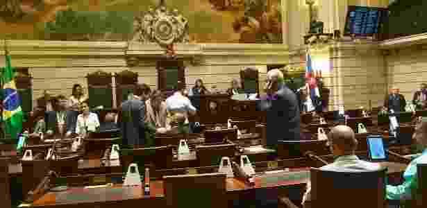 Primeira sessão deliberativa na Câmara do Rio após depoimento que cita Siciliano - Hanrrikson de Andrade/UOL