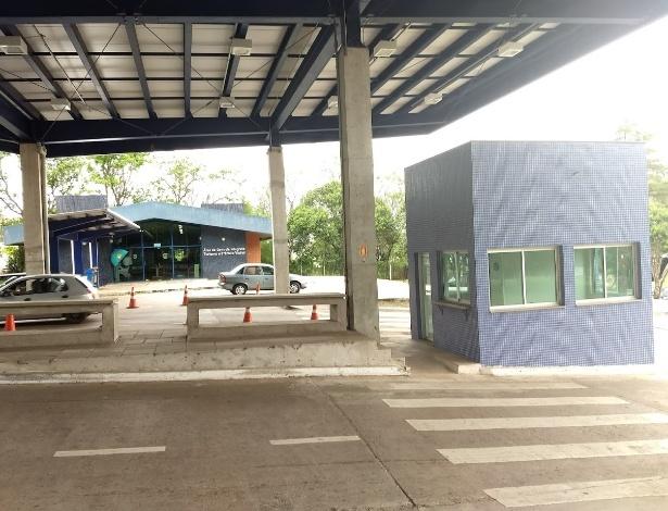 Posto de passagem na fronteira do Brasil com o Uruguai, em Quaraí (RS) - Sinpef-RS