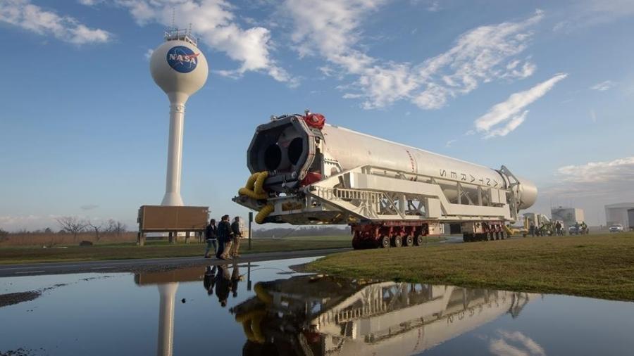 Nasa mostra lançamento de foguetes como o da foto, que levou suprimentos à Estação Espacial Internacional - Divulgação