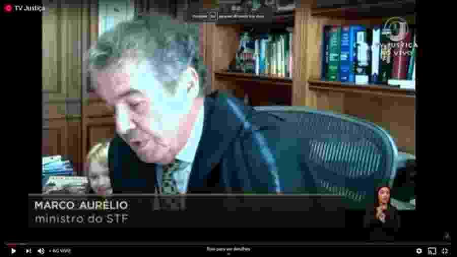 Neta de ministro Marco Aurélio Mello surge em sessão - Reprodução/TV Justiça