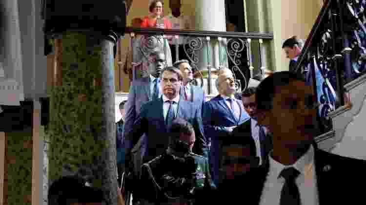 20.jan.2020 - Jair Bolsonaro após reunião com Marcelo Crivella no Rio - Fernando Frazão/Agência Brasil - Fernando Frazão/Agência Brasil
