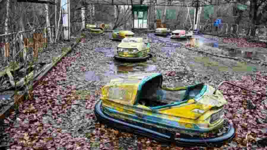 Pripyat, a cidade perto da usina de Chernobyl, é hoje uma cidade fantasma - Getty Images