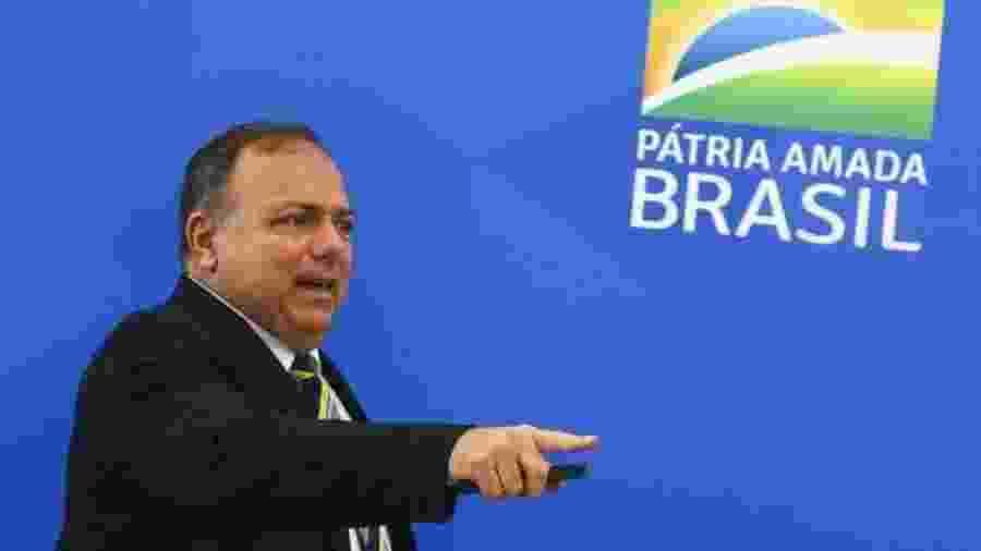 """Na segunda (11) o ministro da Saúde Eduardo Pazuello disse que o pliar da pasta contra a pandemia é o """"tratamento precoce"""", que significa a prescição de cloroquina e medicamentos sem eficácia comprovada - Marcelo Camargo/Agência Brasil"""