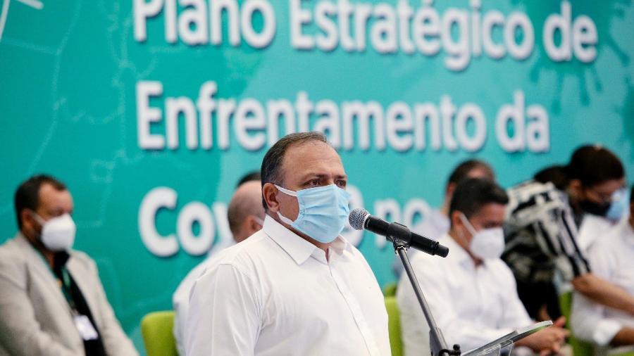 11.jan.2021 - Eduardo Pazuello, ministro da Saúde, em Manaus - Divulgação/Ministério da Saúde