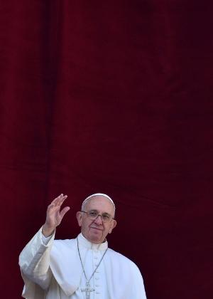 Papa Francisco, na sacada da Basílica de São Pedro, no Vaticano - Vincenzo Pinto/AFP
