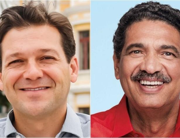 Os candidatos Geraldo Julio (PSB), à esq., e João Paulo (PT) vão disputar o 2º turno