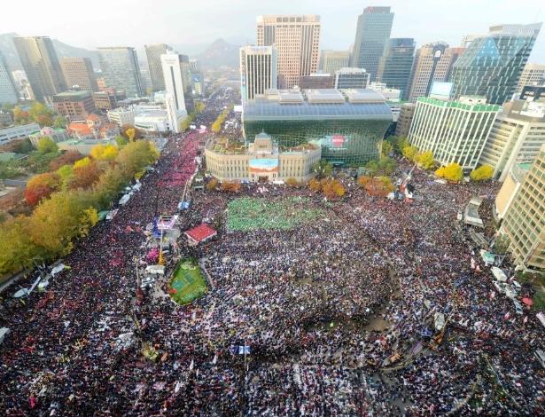 Manifestantes falam em 1 milhão de pessoas, polícia diz que são 260 mil
