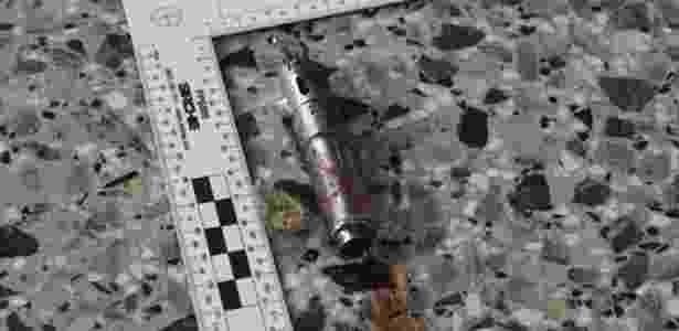 24.mai.2017 - Pequeno detonador usado no atentado em Manchester (Inglaterra) - The New York Times