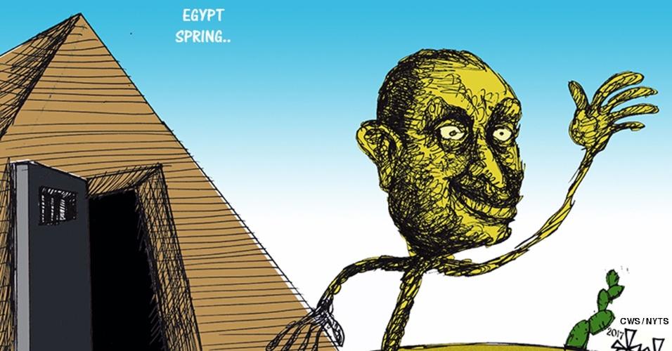 Março: Mubarak Ganha Liberdade No Egito