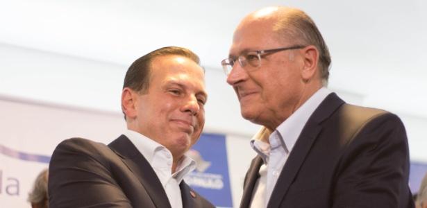 29.mar.2018 - João Doria e Geraldo Alckmin