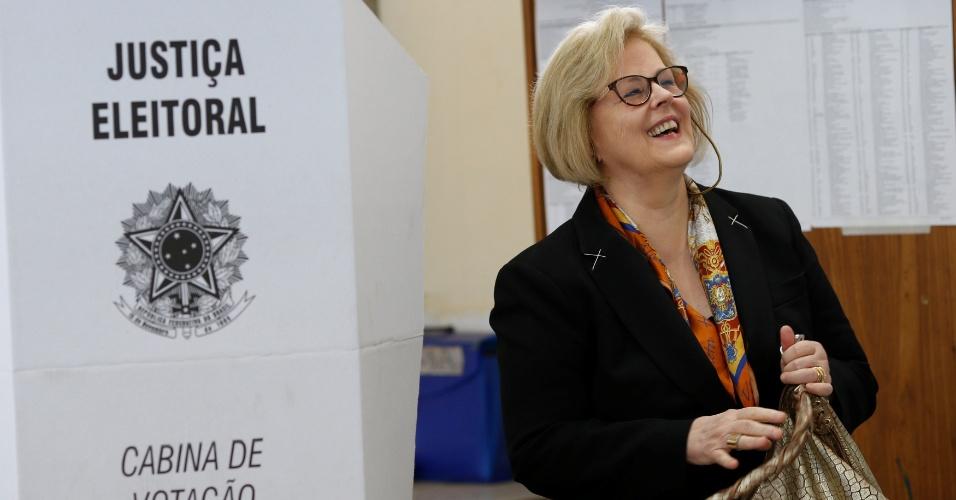 A presidente do Tribunal Superior Eleitoral (TSE), ministra Rosa Weber, votou em Brasília