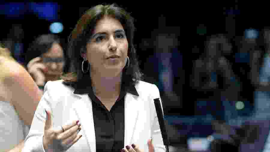 A senadora Simone Tebet (MDB-MS) foi anunciada como a candidata do MDB à Presidência do Senado - Pedro França/Agência Senado