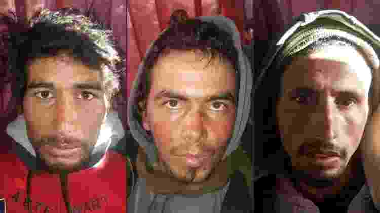 Rachid Afatti, Ouziad Younes e Ejjoud Abdessamad, condenados à morte pelo assassinato das amigas Louisa e Maren - Polícia do Marrocas/Via AFP