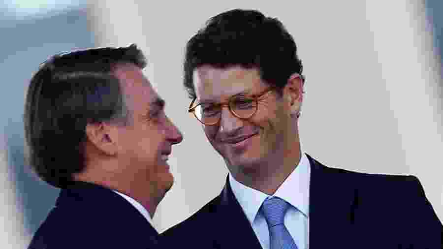 Presidente Jair Bolsonaro e o ministro do Meio Ambiente, Ricardo Salles - Adriano Machado/Reuters