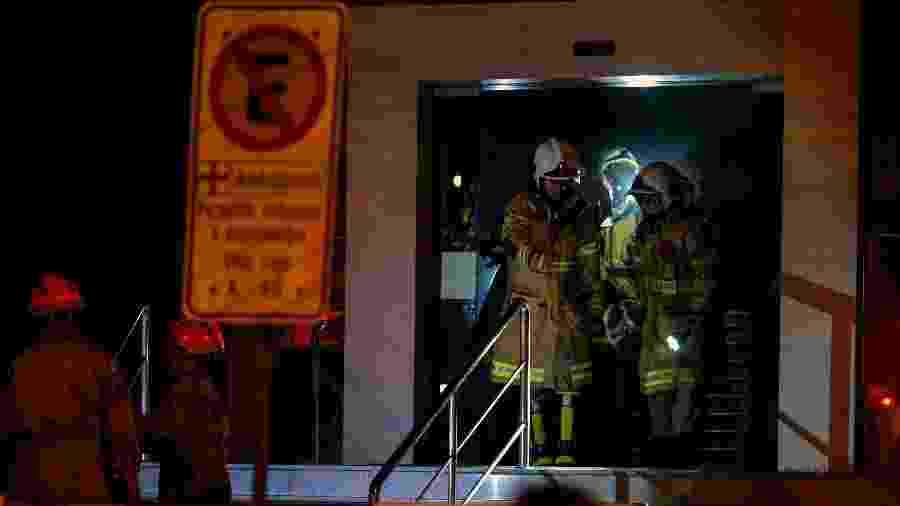 Incêndio atinge Hospital Badim, no Rio - MAURO PIMENTEL / AFP