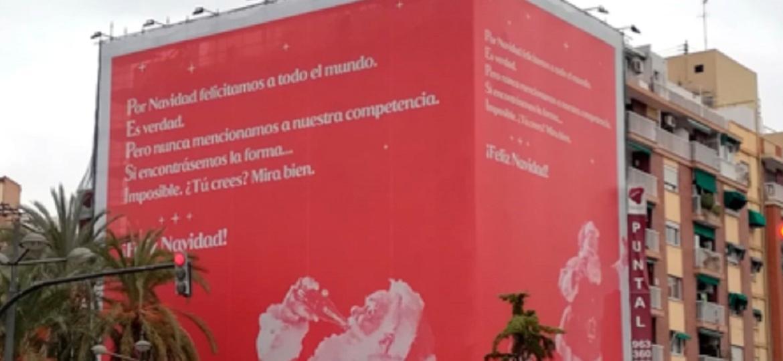 Coca-Cola dá Feliz Natal à Pepsi na Espanha - Reprodução/Twitter
