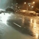 Baixada Santista é atingida por fortes chuvas. - Reprodução/Globo