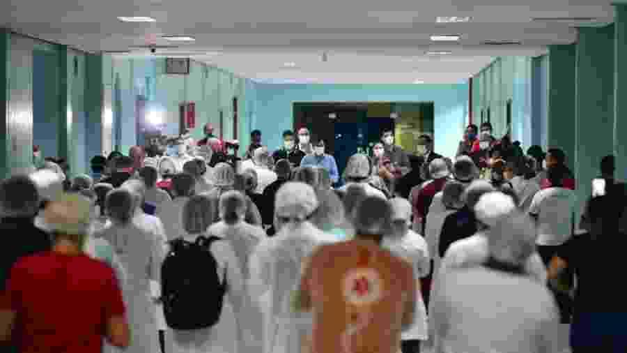 Hospital de campanha Nilton Lins, em Manaus, foi inaugurado no dia 18 de abril - Divulgação/Governo do Amazonas