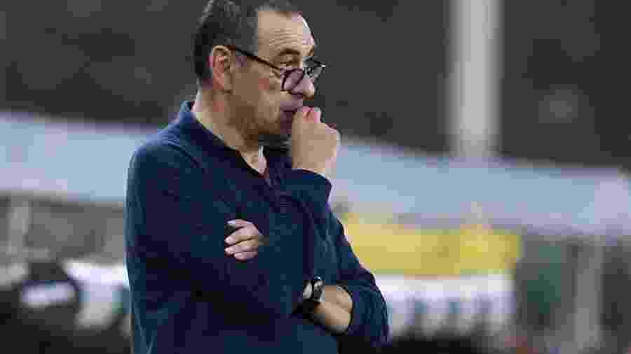 O técnico Maurizio Sarri, demitido pela Juventus após eliminação na Liga dos Campeões - Jennifer Lorenzini