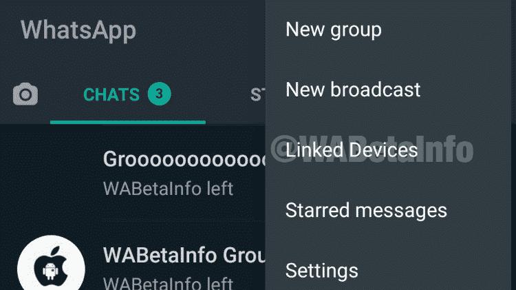 WhatsApp 1: teste de uso da conta em vários dispositivos - Reprodução/Wabetainfo - Reprodução/Wabetainfo