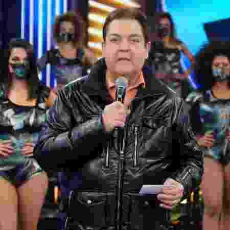 Faustão no domingo em que voltou ao estúdio  - Reprodução/Globo