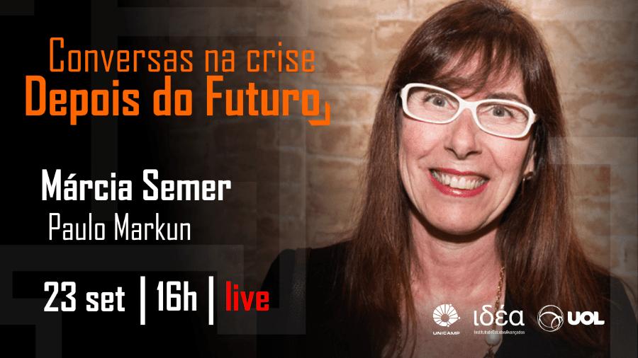 Márcia Semer no Conversas na Crise - Arte/IdEA-Unicamp