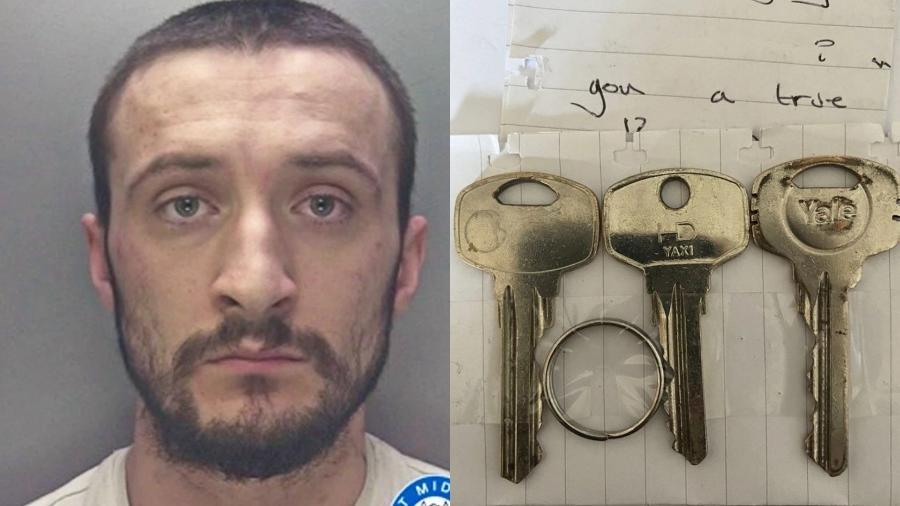 Dean Dixon foi preso por perseguir a ex-namorada por seis meses depois do término  - West Midlands Police/Reprodução