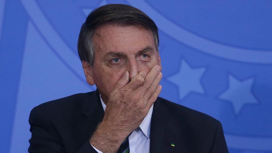 """9.fev.2021 - O presidente Jair Bolsonaro (sem partido) durante cerimônia de lançamento do programa """"Adote 1 Parque"""" - Dida Sampaio/Estadão Conteúdo"""