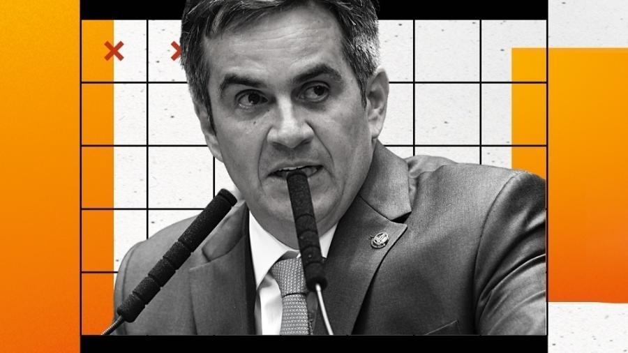 11.dez.2019 - O senador Ciro Nogueira (PP-PI), no plenário do Senado - Foto Jefferson Rudy/Agência Senado/Arte UOL