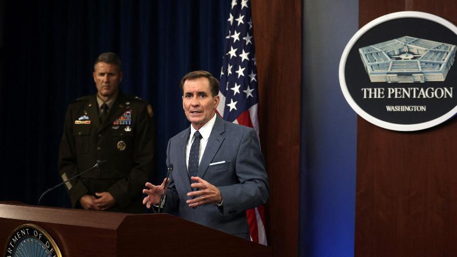 17.ago.2021 - O secretário de imprensa do Pentágono, John Kirby - Alex Wong/Getty Images via AFP