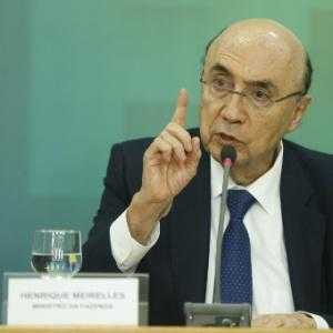 O ministro da Fazenda, Henrique Meirelles, durante anúncio da meta fiscal de 2017