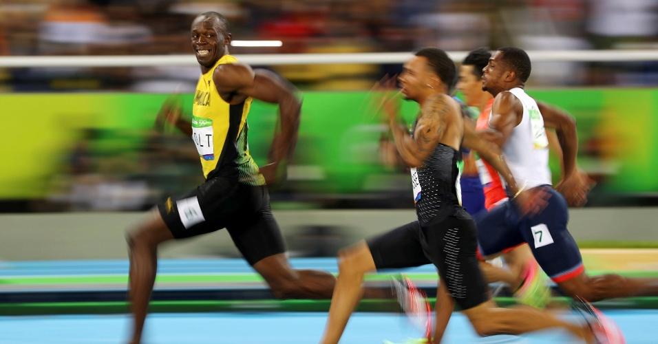 Usain Bolt correndo na Rio-2016