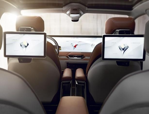 Carro inteligente da Byton lançado na CES 2018, em Las Vegas