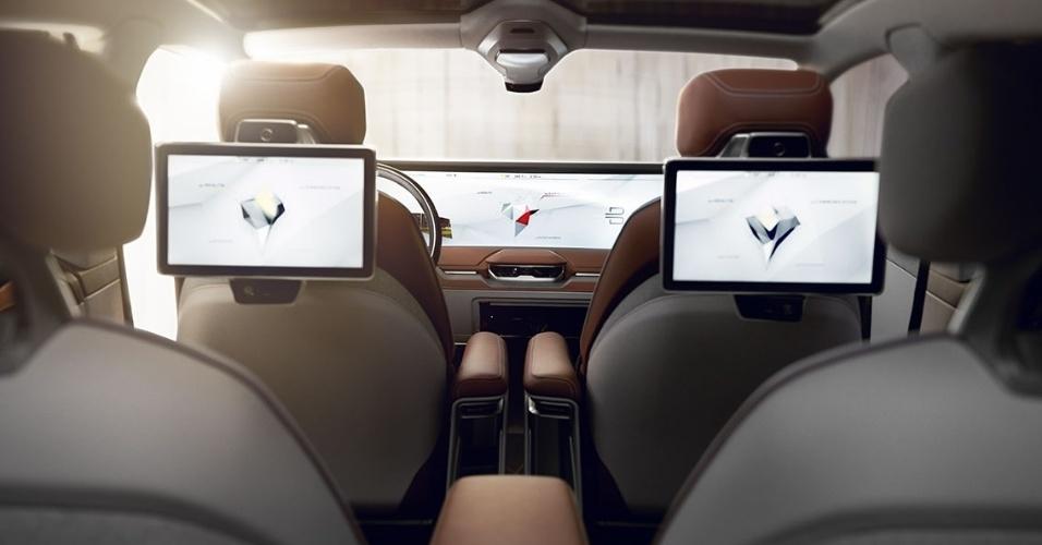 8.jan.2018 - Carro inteligente da Byton lançado na CES 2018, em Las Vegas