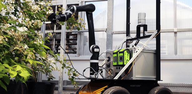 O robô da Universidade de West Virginia é capaz de polinizar plantas - Divulgação