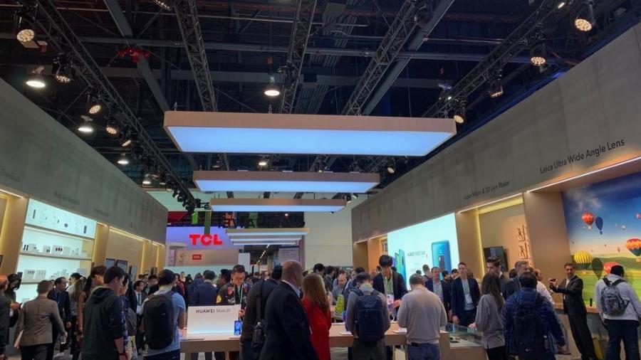 Espaço da Huawei na CES 2019 - Bruna Souza Cruz/UOL