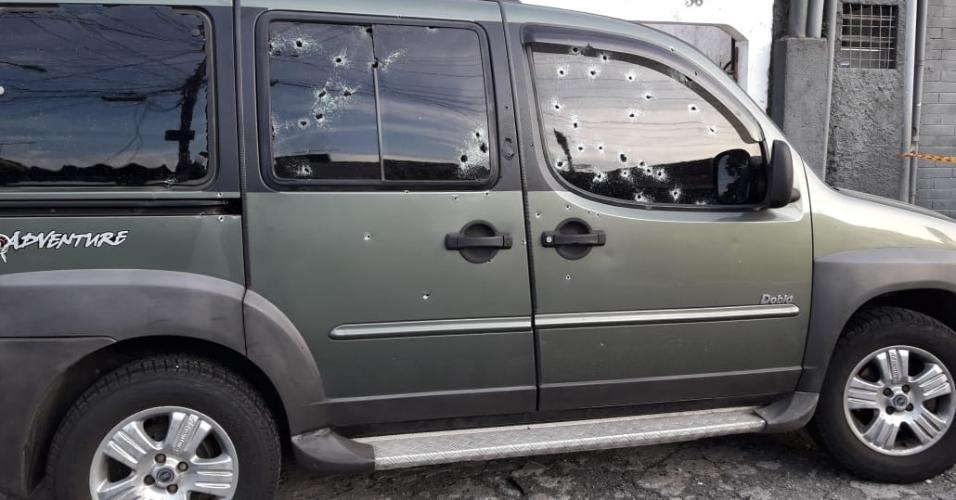 Carro em que estava o policial da Rota foi atingido por tiros de fuzil