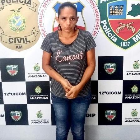 Patrícia Melo da Silva, de 41 anos, foi presa suspeita de ser a mandante do homicídio do próprio irmão - Divulgação/PC-AM