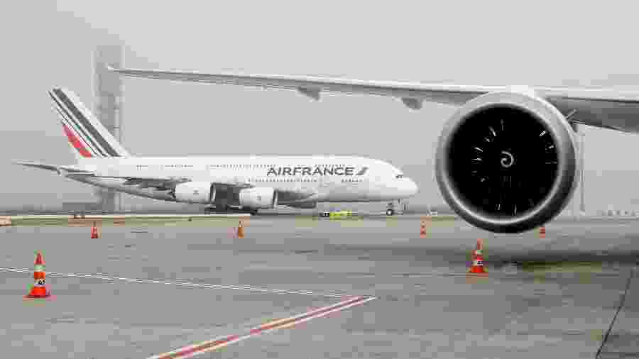 Avião da Air France no aeroporto Charles de Gaulle - Eric Piermont/AFP