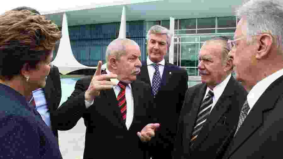 Dilma Rousseff recebe todos os quatro ex-presidentes vivos para a cerimônia de lançamento da Comissão Nacional da Verdade  - Roberto Stuckert Filho/PR