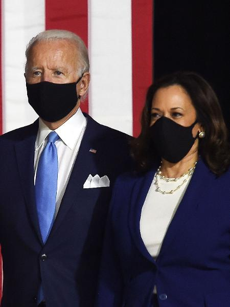 Joe Biden e Kamala Harris fazem primeira aparição juntos após nomeação de Kamala como vice de Biden - Olivier DOULIERY / AFP