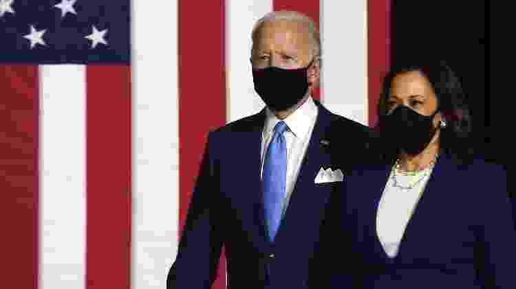 Joe Biden e Kamala Harris fazem primeira aparição juntos após nomeação de Kamala como vice de Biden - Olivier DOULIERY / AFP - Olivier DOULIERY / AFP