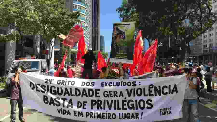 Em Brasília, Grito dos Excluídos faz ato contra preconceito, por trabalho e moradia - Akemi Nitahara/Agência Brasil