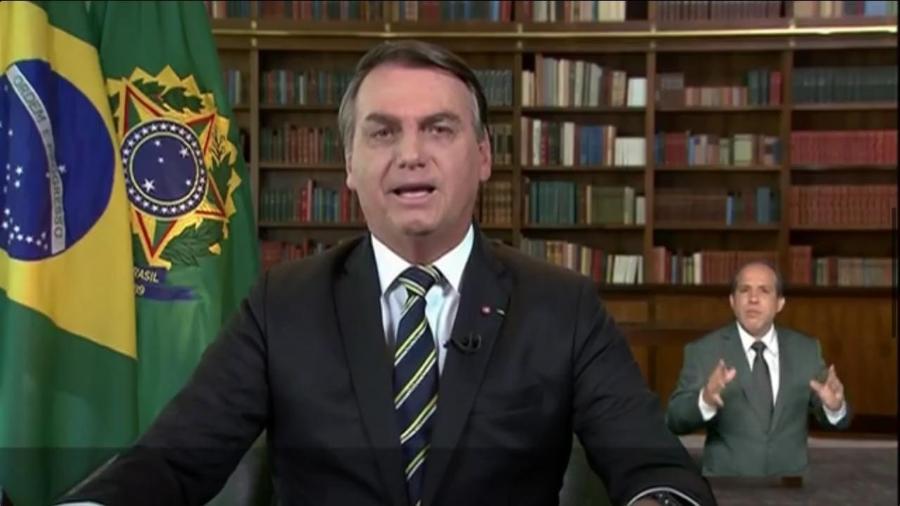 Presidente Jair Bolsonaro fez pronunciamento sobre pandemia e campanha de vacinação - Reprodução