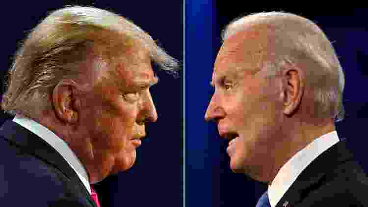 Trump e Biden - Morry Gash e Jim Watson/AFP - Morry Gash e Jim Watson/AFP