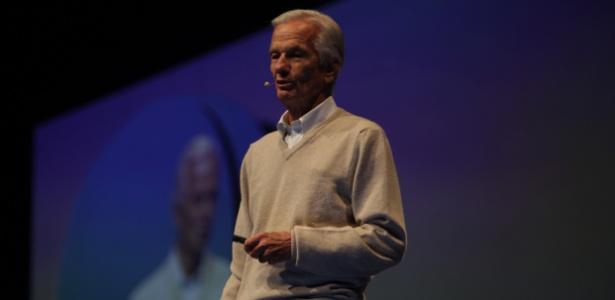 Jorge Paulo Lemann durante palestra no Day 1, evento promovido pela Endeavor